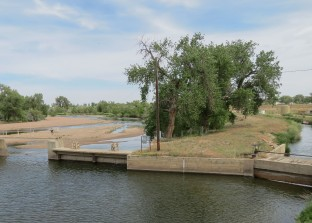 Ditch Headgate and South Platte River