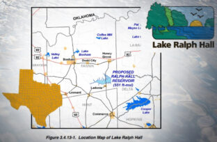 Lake Ralph Hall Map